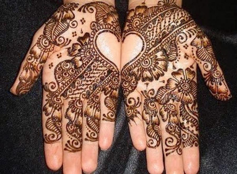Arabic-Mehandi-Designs-17 Heart Shaped Mehndi Designs- 20 Simple Henna Heart Designs