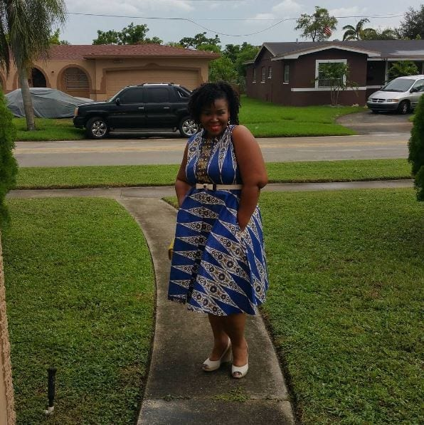 Cool-Blue-Ankara-Outfit Bow Afrika Clothes- Top 30 Chic Bow Afrika Outfits for Women