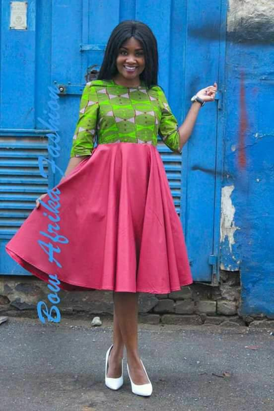 Cool-Rosey-Frock-for-Spring Bow Afrika Clothes- Top 30 Chic Bow Afrika Outfits for Women