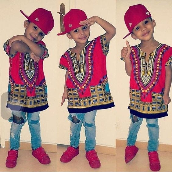 Dashiki-Tops-for-Boys Cute African Outfits- 20 Modern African Outfits for Children