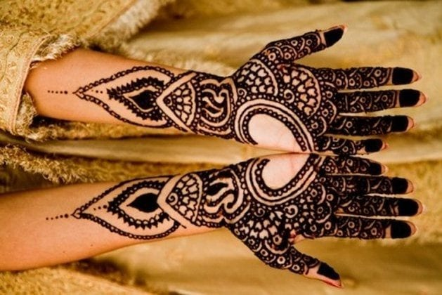 Mehndi Designs For Hands Very Simple : Heart shaped mehndi designs simple henna