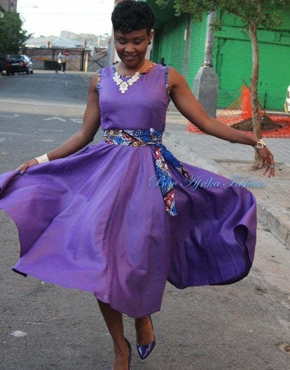 Semi-formal-Wrap-Over-Dress Bow Afrika Clothes- Top 30 Chic Bow Afrika Outfits for Women