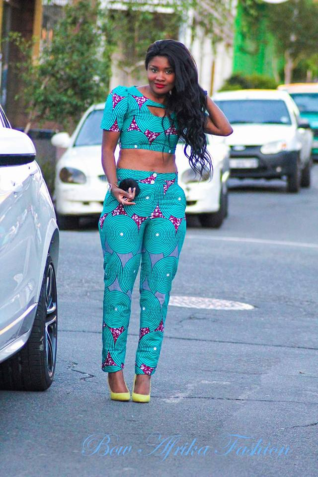 Sexy-Ankara-Pants-and-Blouse Bow Afrika Clothes- Top 30 Chic Bow Afrika Outfits for Women