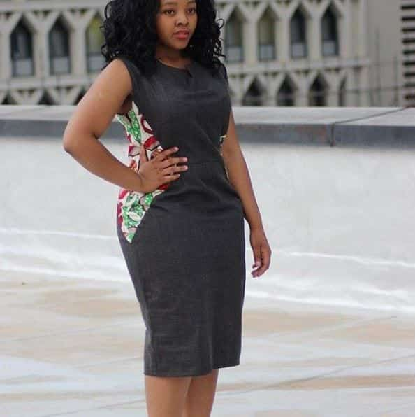 Sexy-Monotone-Pencil-Dress Bow Afrika Clothes- Top 30 Chic Bow Afrika Outfits for Women