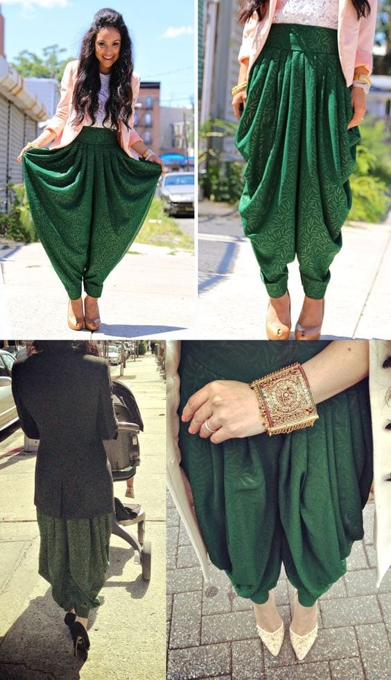 Shoe-Wear-with-Patiala-Dresses Classy Patiala Outfits-30 Amazing Ways to Wear Patiala Salwar