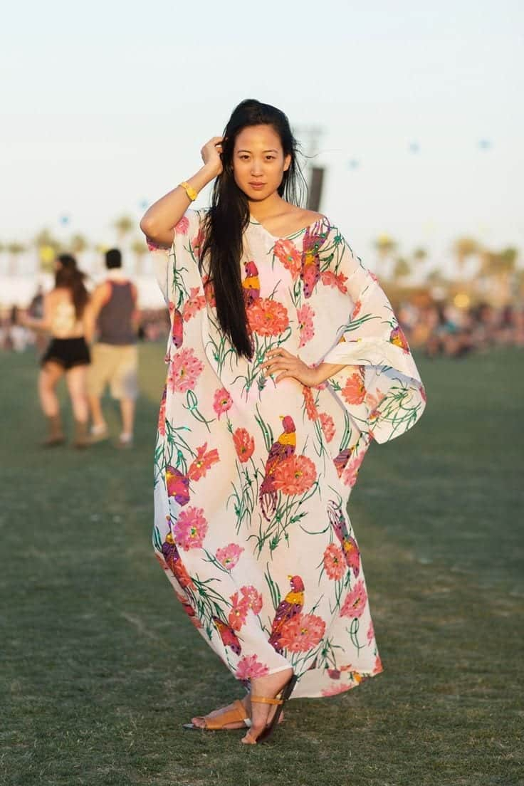 Spring-Style-Kaftan Funky Festival Outfits - 30 Funky Outfits for Girls to Wear