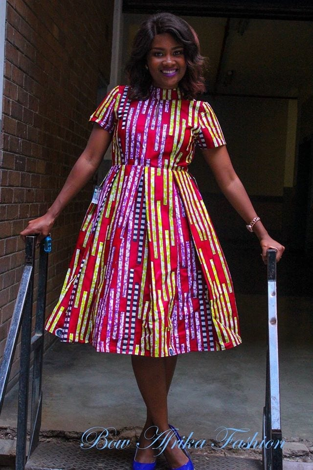 Summer-Pleated-Frock Bow Afrika Clothes- Top 30 Chic Bow Afrika Outfits for Women