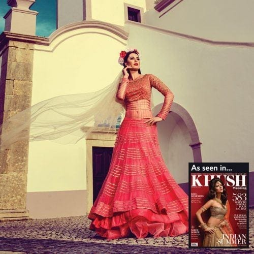 coral-lacha-outfit-500x500 Punjabi Lacha Outfit Ideas - 30 Ways to Wear Lacha for Girls