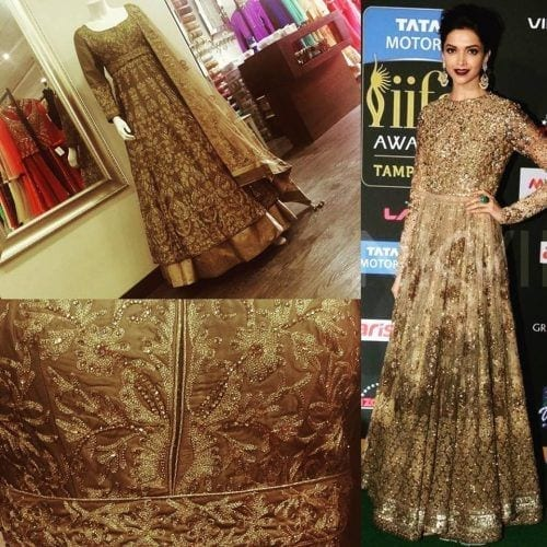 deepika-padukone-lacha-outfit-500x500 Punjabi Lacha Outfit Ideas - 30 Ways to Wear Lacha for Girls