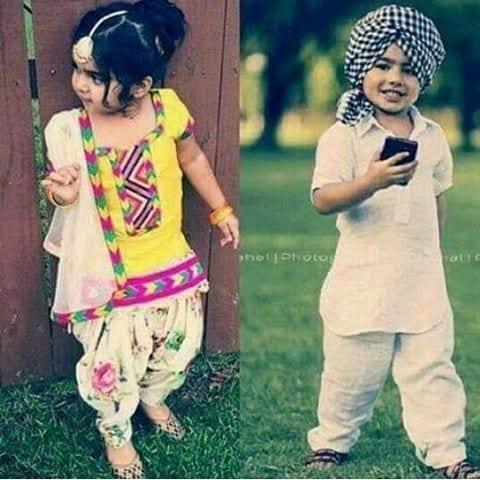 Punjabi Dress for Kids- 30 Best Punjabi Outfits for Children