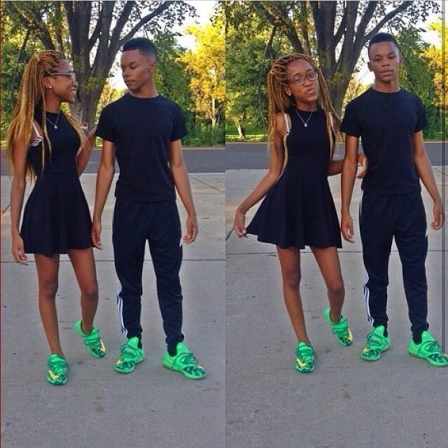 22-black-outfit-and-matching-sneakers 13 Cutest Matching Outfits For Black Couples
