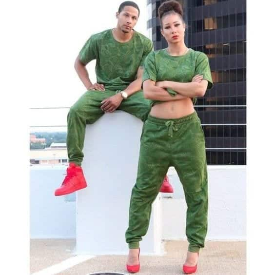 26-stay-green 13 Cutest Matching Outfits For Black Couples