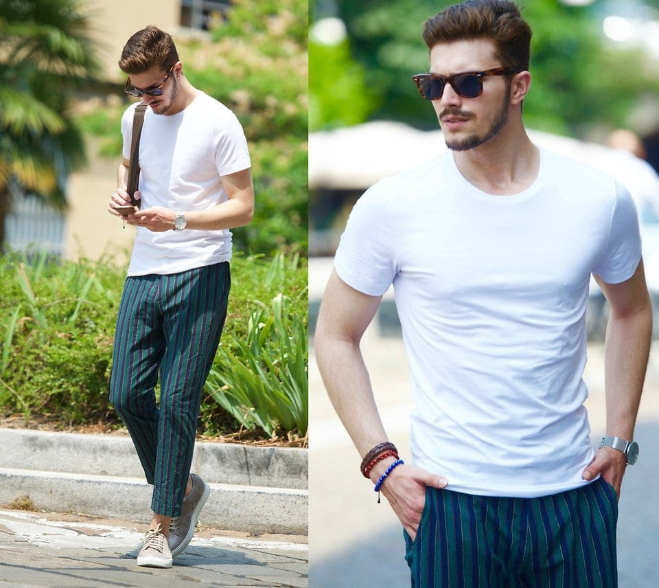 How-to-wear-stripey-pants 30 Funky Outfits for Guys Trending These Days