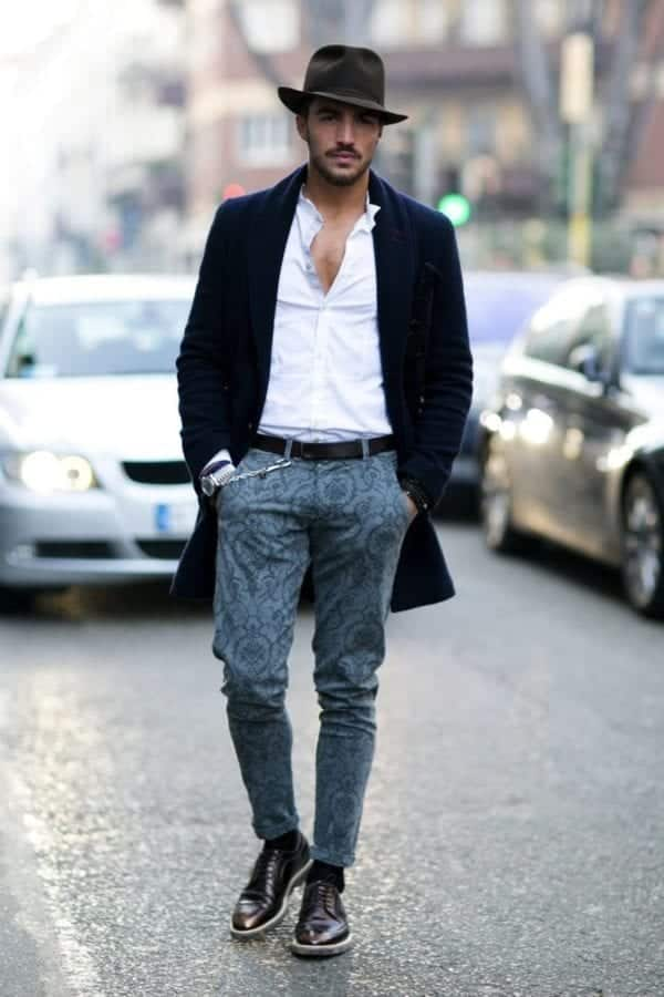 Printed-Denim-Pair-Ups 30 Funky Outfits for Guys Trending These Days