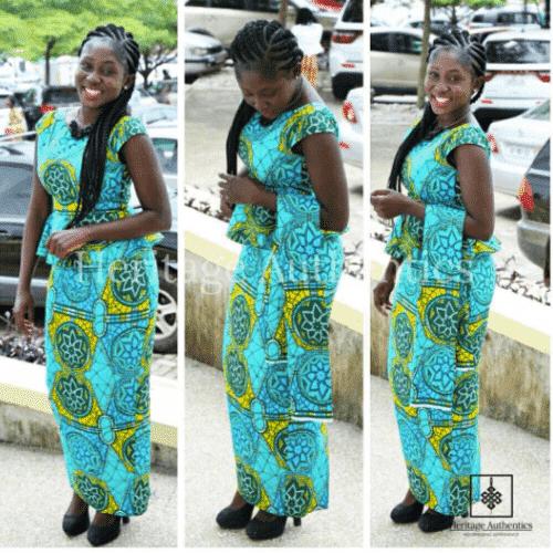 ghanaian-kaba-and-slit-500x500 Ghanaian Women Kaba and Slit- 20 Beautiful Kaba Outfit Ideas
