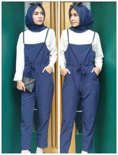 hijab-and-jumpsuit-for-daywear-381x500 Hijab with Jumpsuits - 16 Ways to Wear Jumpsuit with Hijab