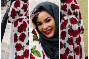 floral outfits with hijab