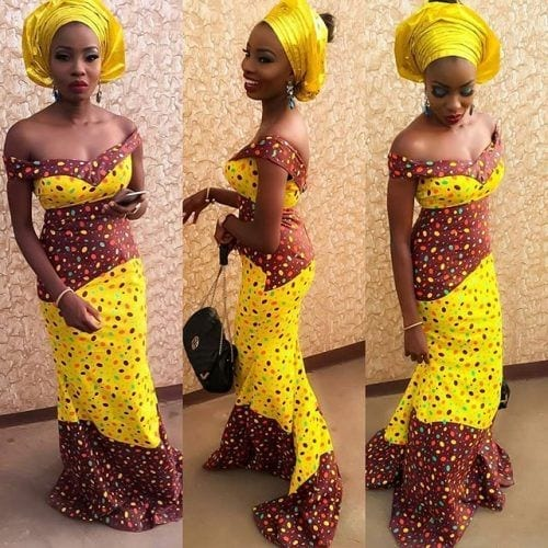 kaba-gown-with-head-wrap-500x500 Ghanaian Women Kaba and Slit- 20 Beautiful Kaba Outfit Ideas