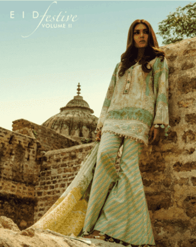 gharara-pants-from-lawn-suits-396x500 Gharara Pant Outfits-20 Beautiful Outfits with Gharara Pants