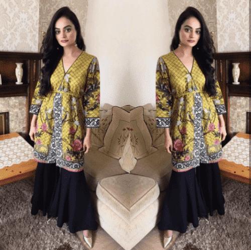 gharara-pants-outfit-1-500x498 Gharara Pant Outfits-20 Beautiful Outfits with Gharara Pants