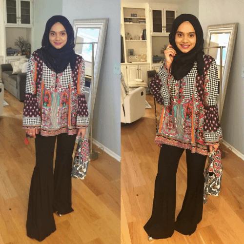 gharara-pants-with-hijab-500x500 Gharara Pant Outfits-20 Beautiful Outfits with Gharara Pants