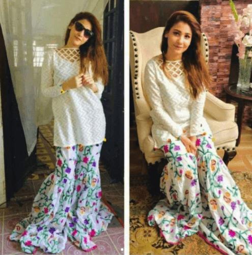 printed-gharara-pants-outfit-495x500 Gharara Pant Outfits-20 Beautiful Outfits with Gharara Pants