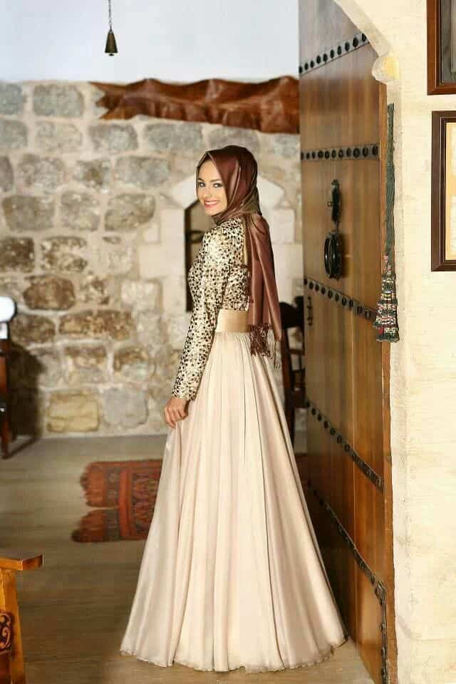 evening-party-gown How to Wear Hijab with Gowns ? 20 Modest Ways to Try