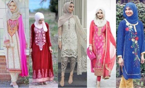 hijab-with-shalwar-kameez-2-500x305 15 Modest Ways for Women To Wear Shalwar Kameez Fashionably