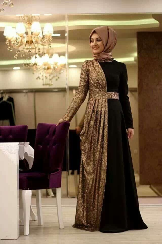 party-gown How to Wear Hijab with Gowns ? 20 Modest Ways to Try