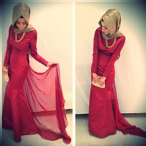 sexy-formal-night-gown How to Wear Hijab with Gowns ? 20 Modest Ways to Try