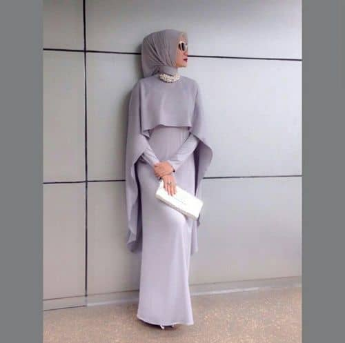 simple-gown How to Wear Hijab with Gowns ? 20 Modest Ways to Try