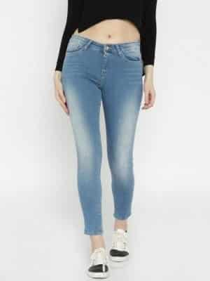 spykar-blue-skinny-fit-mid-rise Top 10 Jeans Brands for Women in India with Price