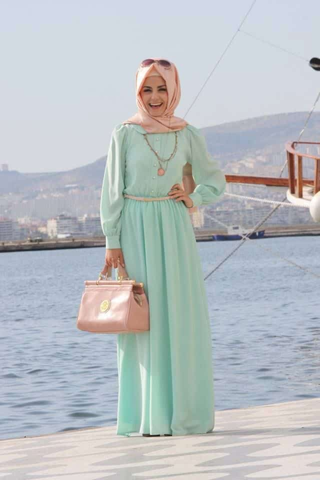 summer-gown How to Wear Hijab with Gowns ? 20 Modest Ways to Try