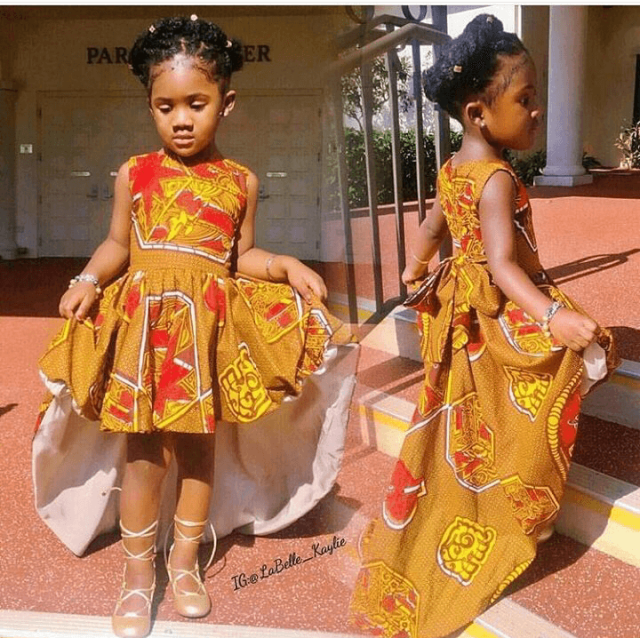 Ankara-Dresses-Gown-Style Ankara Styles for Babies-19 Adorable Ankara Dresses For Kids 2018