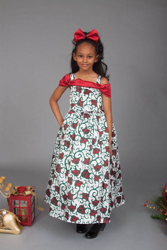 Ankara-Dresses-Long-Frocks Ankara Styles for Babies-19 Adorable Ankara Dresses For Kids 2018