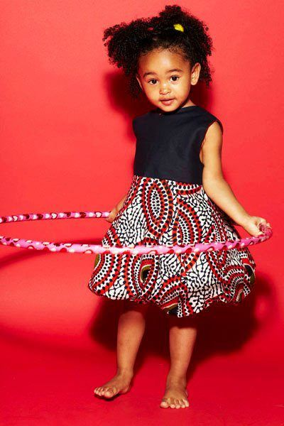 Ankara-Dresses-Short-Dresses Ankara Styles for Babies-19 Adorable Ankara Dresses For Kids 2018