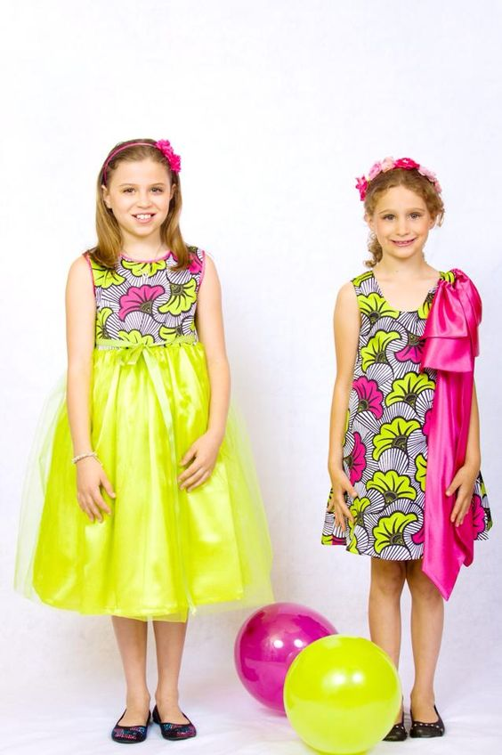 Ankara-Dresses-as-Party-Wear Ankara Styles for Babies-19 Adorable Ankara Dresses For Kids 2018