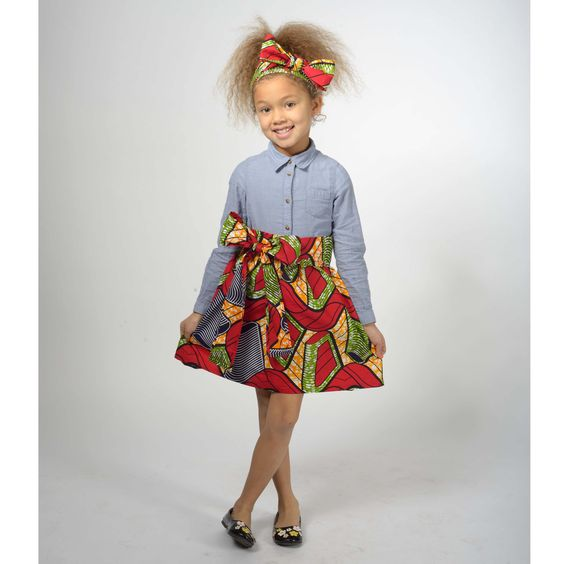 Ankara-Dresses-in-Western-Styles Ankara Styles for Babies-19 Adorable Ankara Dresses For Kids 2018