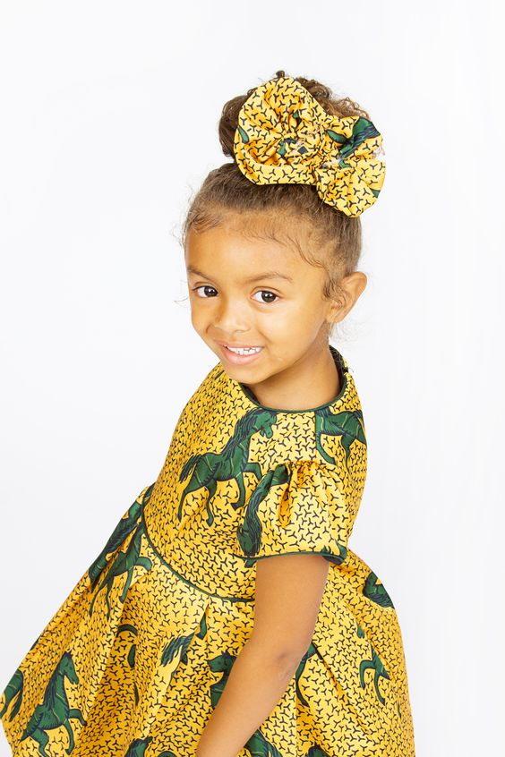 Hair-Accessories-to-Wear-with-Ankara-Dresses-2 Ankara Styles for Babies-19 Adorable Ankara Dresses For Kids 2018