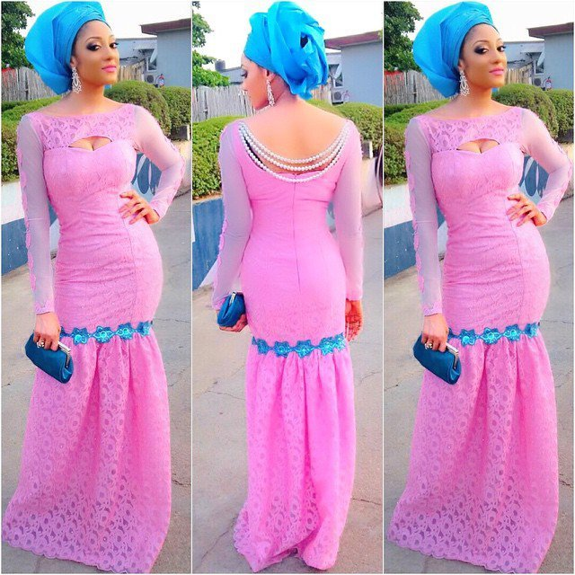 French-laceasoebi 2019 Aso-Ebi Styles–20 Latest Lace & Asoebi Designs These Days