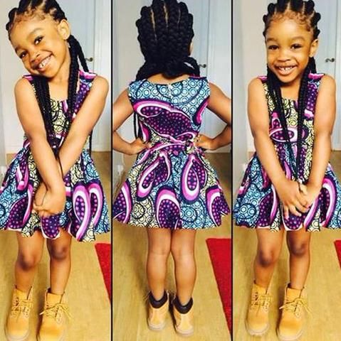 Ankara-Style-Frock Frock Designs for Little Girls-17 Latest Frock Styles for Kids 2018