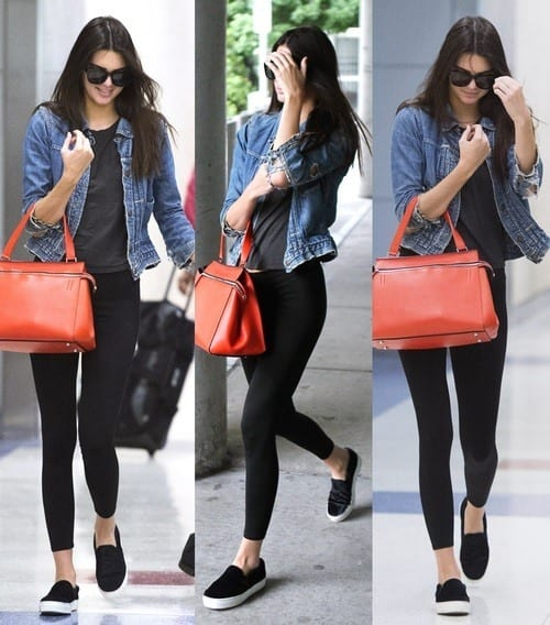 Kendal-Jenner-Denim-jacket 40 Most Stylish Kendall Jenner Outfits To Copy This Year