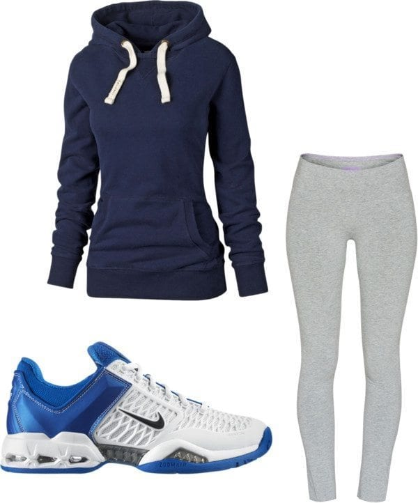 Fall-time-work-out-clothes Winter Workout Outfits-15 Cute Winter Gym Outfits for Women