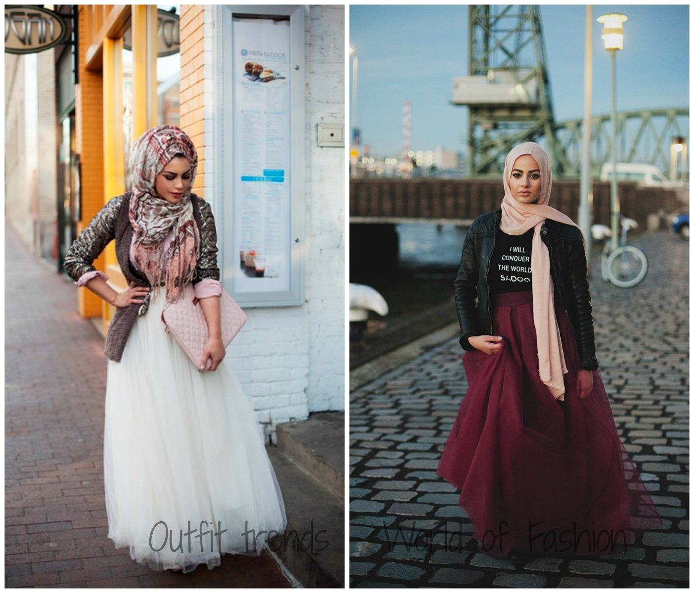 Hijab-with-Skirts1 Hijab Party Style-22 Elegant Ways to Wear Hijab for Parties