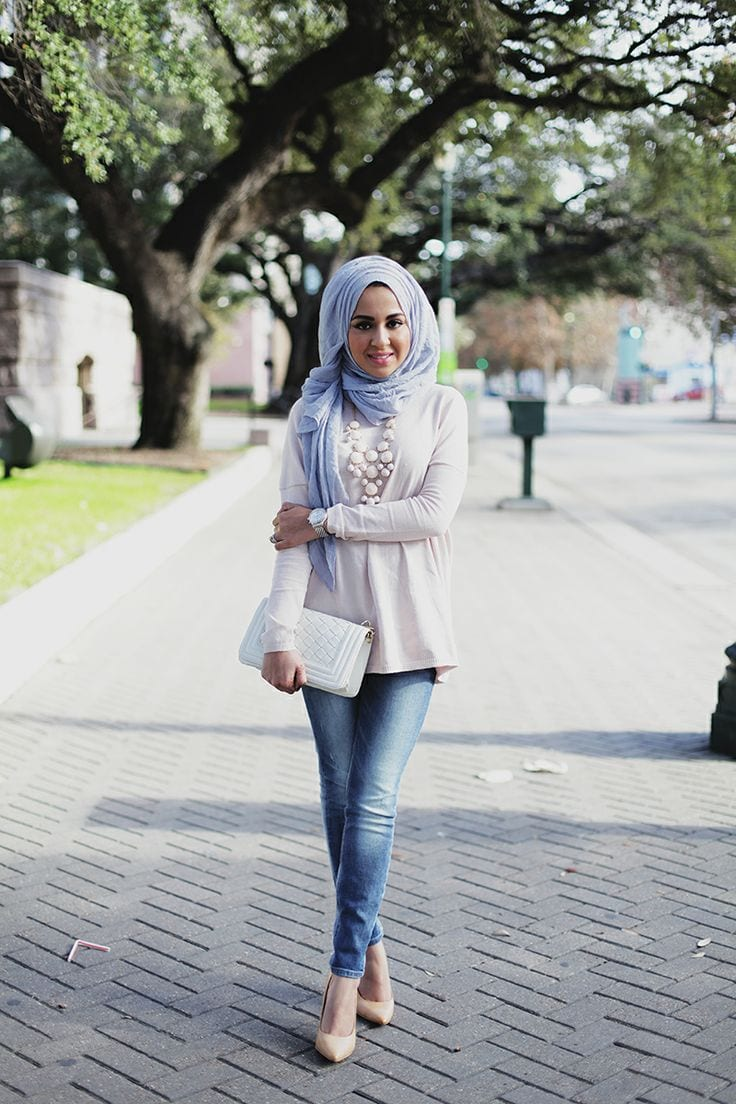 Mulsim-models-with-hijab Hijab Party Style-22 Elegant Ways to Wear Hijab for Parties