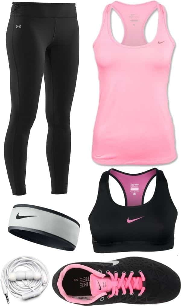 Pink-nike-sports-wear Winter Workout Outfits-15 Cute Winter Gym Outfits for Women