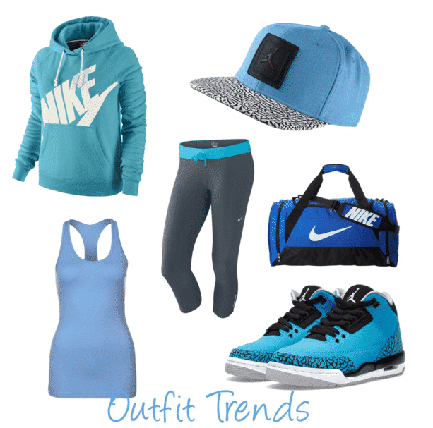 Winter-NIke-Sports-dress Winter Workout Outfits-15 Cute Winter Gym Outfits for Women