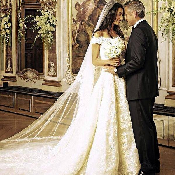 amal 10 Celebrities Who Wore World Most Expensive Wedding Dresses
