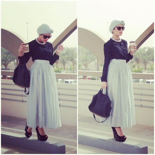 hijab-with-long-skirt 25 Western Outfits to Wear with Hijab for Gorgeous Look