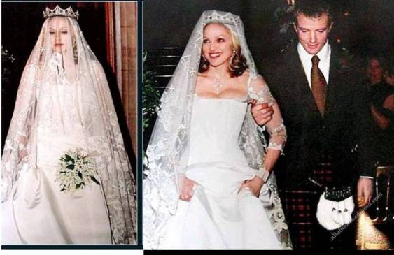 madonna 10 Celebrities Who Wore World Most Expensive Wedding Dresses